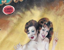 Freak Show Photograph, Strange Girls, Siamese Twins Side Show Carnival Print, Retro conjoined Twin Women Circus Freak Show Art 8x8