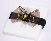 Black Garter - Wedding Garter - Gold Garter - Gift for Bride - Bridal Garter -Bridal Shower Gift - Elegant Crinoline Accessory