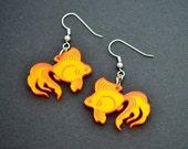 Gold Fish - Koi Acrylic Earrings