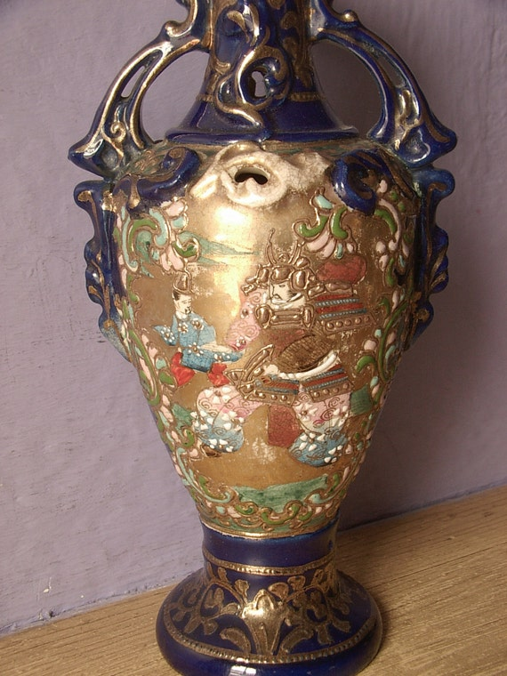 Antique 1880 S Japanese Vase Samurai Vase Hand By
