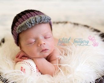 Knitted Baseball Cap Pattern - Knit Newborn Boy Hat Pattern - Knit Baby Boy Hat Pattern - Knit Boy Hat Pattern