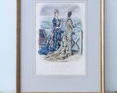 RESERVED TO HELEN - Framed illustration La mode illustrée - Toilettes de Mmes Maury-Leriche - 1877 No 31