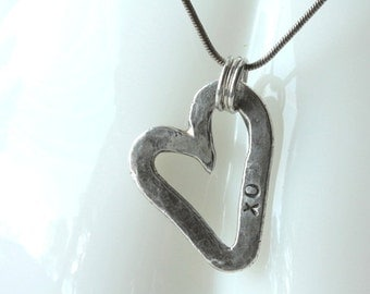 Artisan silver heart necklace personalized as you wish....  Close to My Heart.. Valentine...Mother's Day