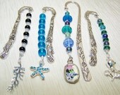 Bookmarks beaded bookmarks with charms made to order new price 3.50 OFF