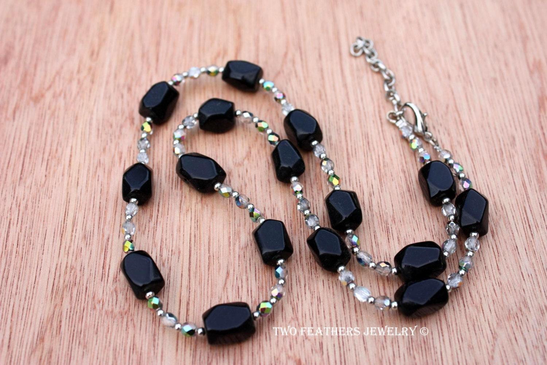 Black Obsidian Necklac...