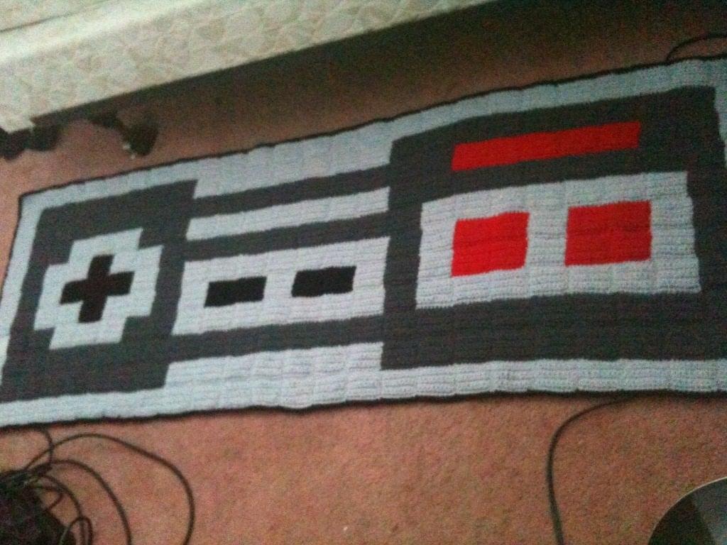 Crochet nintendo controller rug Controller rug
