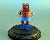 Robot Sculpture, Trinket Box, Steam Punk Desk Art