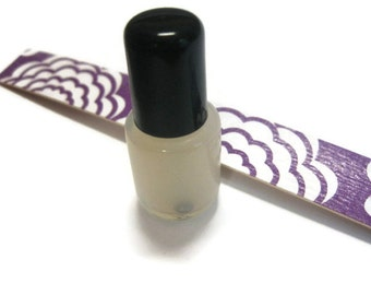 Clear Coat Fragranced Nail Polish 5 ml, coordinating fragrance nail polish, clear top coat, glitter sealer top coat