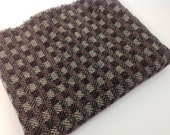 Wool Fabric for Rug Hooking and Applique, Fat Quarter, Checkered Black, J810