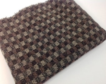 Checkered Black, Wool Fabric for Rug Hooking and Applique, Select-a-size, J810