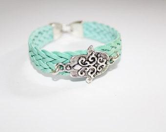 hamsa bracelet, evil eye charm bracelet, leather bracelet, hamsa charm