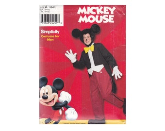 Mickey Mouse Costume for Men UNCUT Unused Sewing Pattern Simplicity 9386  Xs S M L Xl Chest 30-48 Disney's Character Costume OOP