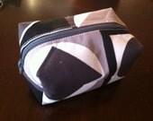 Geometric-Boxy Makeup Pouch-Small