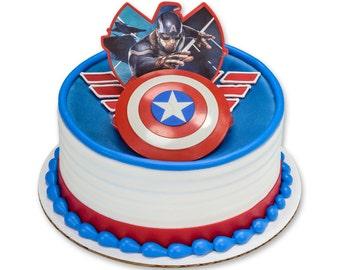 Captain America Cake Topper Decoration