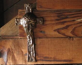 Vintage pottery crucifix