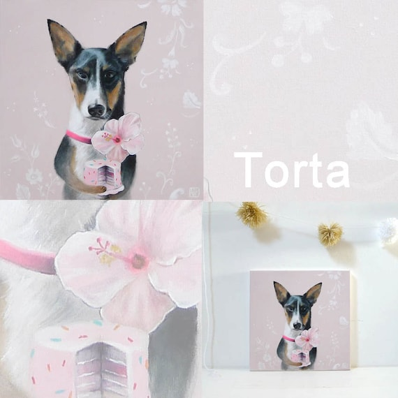 Custom  Dog Portrait of Torta for Julie