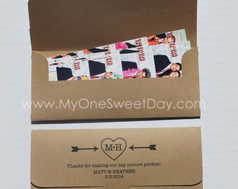 Photobooth Photo-Strip Envelopes Baptism children's birthday party photo booth party favor