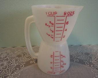 Vintage Tupperware Wet N Dry Measuring Cup - Tupperware Wet N Dry - Tupperware Measuring Cup Wet N Dry - Vintage Tupperware - Tupperware