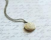 Small Antique Bronze Locket - A Vintage Simple Antique Bronze Locket Necklace Bridesmaid Locket Necklace - Flowergirl Locket Necklace