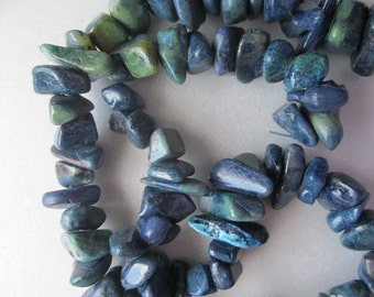 Dark Blue Turquoise Chip Beads 13-17mm 20 Beads