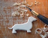 DACHSHUND Ornament - Gift Tag - Nursery Mobile - CHRISTMAS ORNAMENT - Dog - Hand Carved - Ready to finish Your Way