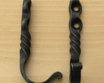 Hand Forged Wrought Iron Coat Hooks