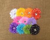 SaLE Playful Polka Dots 11 Pc Set Beautiful Daisy Flowers Hair Clips Less Than 1.00 Each