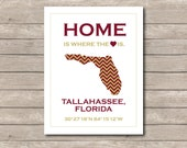 FSU Seminoles Print, Seminole Art Print, Tallahassee Florida