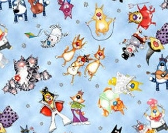 Packed Cats Fabric 1 Yard