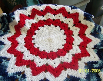 Patriotic Crocheted doily