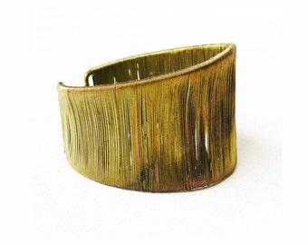 Vintage Brass Cuff Bracelet 1960s