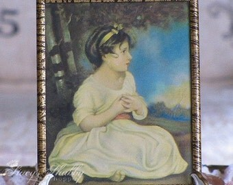 Sweet AGE OF INNOCENCE Girl Print, Picture, Shabby Chic, 1940s