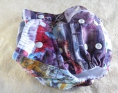 SassyCloth one size pocket diaper with Route 66 PUL print. Made to order.