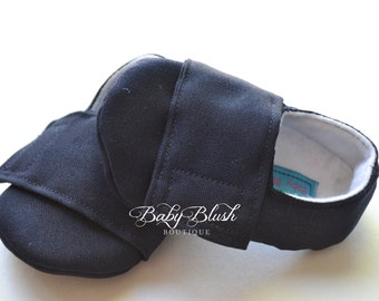 Navy Blue  Baby Boy Soft Soled Baby Shoes - Infant Shoes