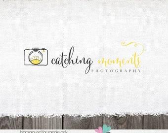 sun logo - logo design with sun camera and sun logo Premade logo Photography Logo Design  Sun Sunrise Photographer Logo & watermark Design