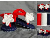 Crochet Patriotic Star Sandals-Newborn, Infant