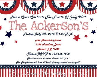 July 4th Invitations