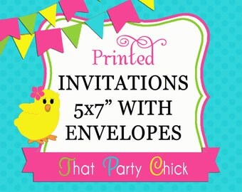 Printed Invitations, Envelopes and Shipping - Purchase with Invitation Proof