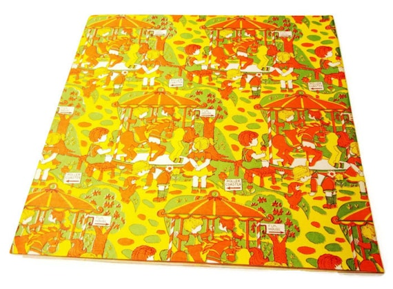 Vintage Wrapping Paper - Citrus Birthday Celebration - One unused sheet Gift Wrap