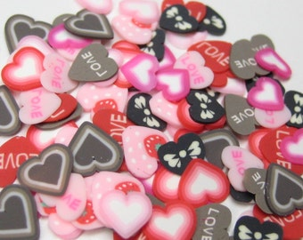 CUSTOMIZE YOUR SLICES Polymer clay cane slices 100 pcs of your choice for miniature foods nail art and decoden pieces fruit flower heart etc