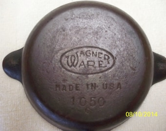 Wagner Ware Cast Iron Ashtray 1050 C Made in USA