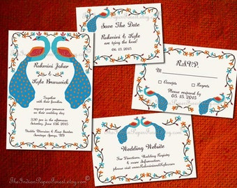 Indian Wedding Invitation Sets Cards By TheIndianPaperForest
