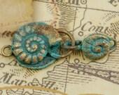 Patina Bronze Nautilus Clasp