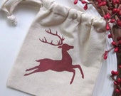 Six Christmas Gift Bags, Christmas Reindeer, Lodge Christmas, Rustic Christmas, Scandinavian Christmas - InTheBluebellWoods