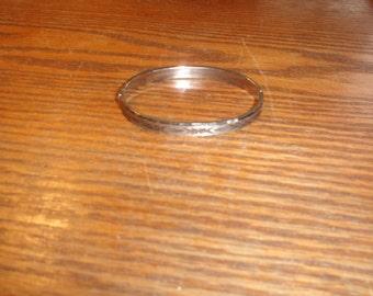 vintage bracelet silvertone hinge