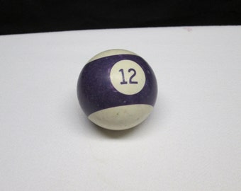 Vintage pool table ball,  no. 12, upcycle supplies