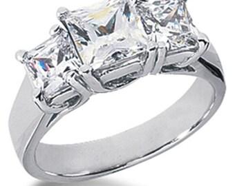 Diamond 1.25CT Three Stone Ring 14K White Gold