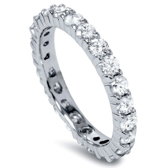 1.50CT Diamond Eternity Band 14K White Gold