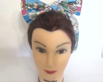 Vintage Inspired Retro hair scarf / Pinup Hair / family Guy Headband/ 1950s 1960s / Rockabilly hair