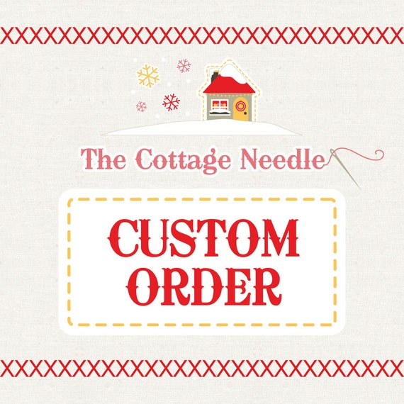 special custom order for Jessica : counted cross stitch supplies embroidery
